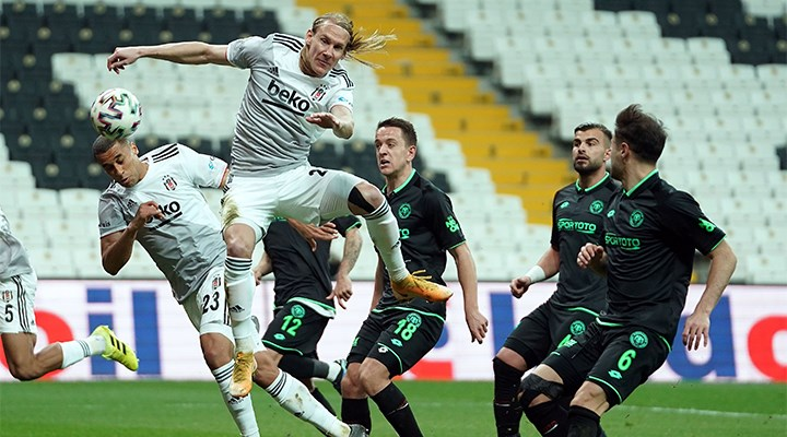 Beşiktaş Konya'yı tek golle geçti